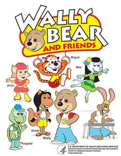 SAMHSA - Wally Bear and Friends Coloring Book: Building Blocks for a Healthy Future (coloring book)