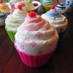 Jumbo Baby Cupcake  Receiving Blanket Burp Cloth & by BabyBinkz, $19.50
