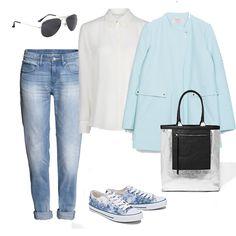 Pastelowy płaszcz wiosna 2014, płaszcz Zara 399zł, spodnie H&M 149,90zł, koszula Mango 99zł, buty House 69,90zł, torba Reserved 139,90zł, okulary F&F 17zł