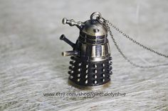 Time Lord Dalek inspired Doctor Who jewelry 3d by gwendolynhve, $3.20