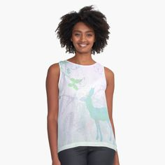 """""""Mystic Deer"""" Sleeveless Top by AutumnLacewing 