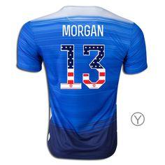 526819d23 2015 16 Alex Morgan Away Youth Jersey  13 USA Independence Day Mens Jersey  Shirts