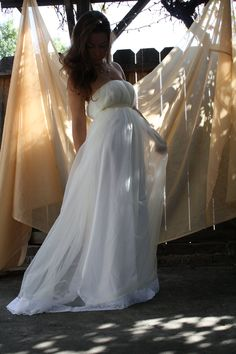 Wedding Gown All Her Love- Bohemian. $450.00, via Etsy.