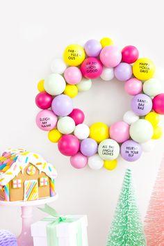 Bohemian Christmas, Noel Christmas, Christmas Wreaths, Christmas Crafts, Christmas Tree Puns, Xmas, Holiday Puns, Pink Christmas Decorations, Diy Garland