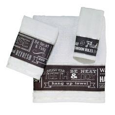 Chalk It Up Bath Towels, Multicolor