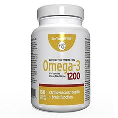 Omega 3  Natural State Ultimate Strength Omega 3 Fish Oil Softgels 1200 150 count High EPA  DHA Essential Fatty Acids Supports Heart Brain Joints and Immune System No Fishy Aftertaste * You can find more details by visiting the image link. (This is an affiliate link)