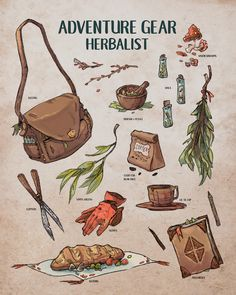 """sarahlindstromart: """"Little herbalist spreadsheet! """" This makes me want to play Ryuutama"""