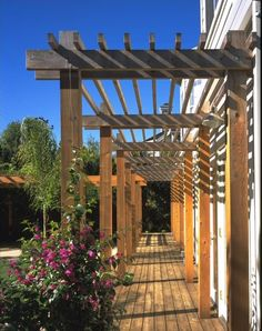 pergola idea love the color and openness of this design