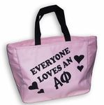 These awesome Alpha Phi Tote bags are priced to move out. Perfect for an upcoming event or just to show your Alpha Phi Love with this great Alpha Phi Tote Bag.