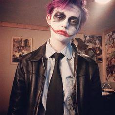 Joker-chan has school now so buh  bai babes. - - - #cosplayaccount #anime #manga #japaneseanime #multifandom #tumblr #animegirl #animeboy #tokyoghoul #hetalia #blackbutler #kuroshitsuji #attackontitan #shingekinokyojin #souleater #noragami #kawaii #kawaiianime #trans #transgender #genderfluid #cosplay #cosplaymakeup #animelove #cutemanga  #kpop #jpop #animeaccount