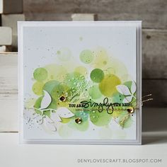 Deny it - cardmaking, scrapbooking and other crafts: YOU ARE SIMPLY THE BEST .. bokeh CARD