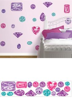 Girls Best Friend Jewel Peel and Stick Appliques - Wall Sticker Outlet