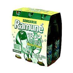 SANGARIA RAMUNE DRINK MELON FLAVOR (6.76FL.OZx6)6BOTTLES