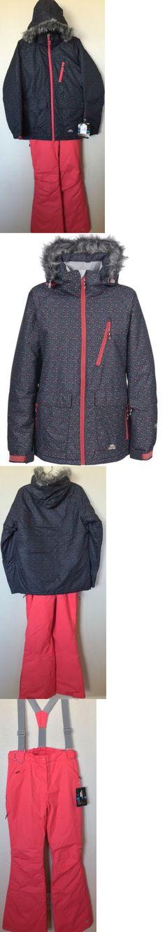 Snowsuits 62178: New Trespass Women S Daru Ski Snowboard Faux Fur Jacket Bibs Pants Suit $360 -> BUY IT NOW ONLY: $180 on eBay!