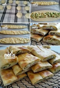 Yumuşak Peynirli Pide – Nefis Yemek Tarifleri How to make Soft Cheese Pita Recipe? Here is the illustrated description of the Soft Cheese Pita Recipe in the book of people and the photos of the experimenters. Yummy Recipes, Pita Recipes, Dessert Recipes, Cooking Recipes, Yummy Food, Cheese Pita Recipe, Cheese Recipes, Bread And Pastries, Middle Eastern Recipes