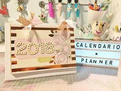 (2) OTRO calendario 2 en 1. Planificador de escritorio. TUTORIAL SCRAPBOOKING - YouTube