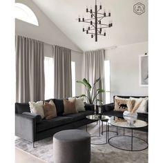 Best 35 Home Decor Ideas - Lovb Black Sofa Living Room Decor, Living Room Wall Units, Living Room Sofa, Home Living Room, Living Room Designs, Dream Home Design, Living Room Inspiration, Home Decor Kitchen, Interior Design