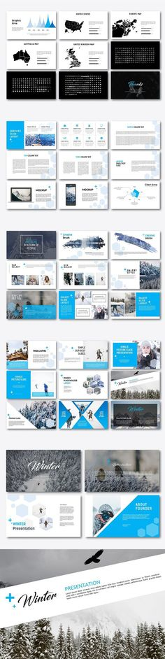 PowerPoint Templates Office Pinterest - winter powerpoint template