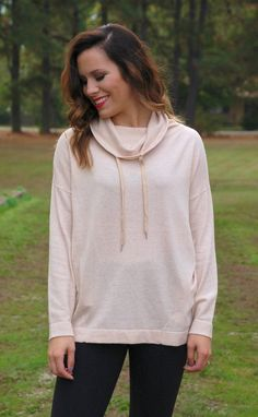 Fun At The Fair Cowl Neck Hoodie-Vanilla #new #sweaters #sweatshirt #tops