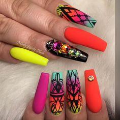 Neon Nails, Nail Art, Beauty, Makeup, Hair, Make Up, Nail Arts, Beauty Makeup, Beauty Illustration