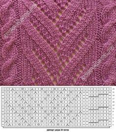 Lindo... Knitting Stiches, Sweater Knitting Patterns, Knitting Charts, Knit Patterns, Crochet Stitches, Baby Knitting, Stitch Patterns, Knitting Projects, Couture