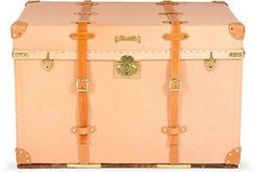 Rosemarie Leather Courier Trunk, C. 1900