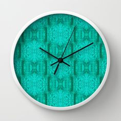 treeangles Pattern Wall Clock by Tika Calderon - $30.00