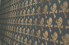 Beware the Moon - Skulls Wallpaper - Bronze on Oil Slick