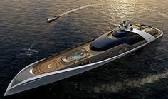 125m 7Cs Futuristic Luxury Superyacht By Drive Design
