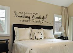 Hey, I found this really awesome Etsy listing at https://www.etsy.com/listing/204584754/bedroom-wall-decal-master-bedroom-wall