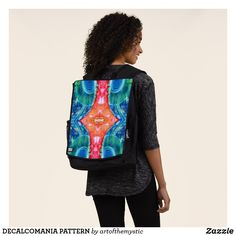 DECALCOMANIA PATTERN BACKPACK Vera Bradley Backpack, Laptop Sleeves, Psychedelic, Fashion Backpack, My Design, Create Your Own, Shop Now, Fancy, Backpacks