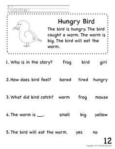 Worksheets Early Reading Worksheets 1st grade kindergarten preschool reading worksheets its story beginning readers comprehension packet for early education or special teacherspayteachers com