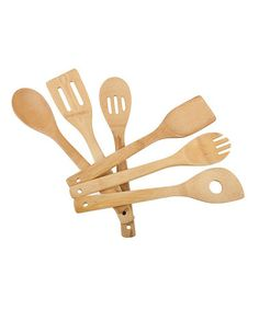 Take a look at this Natural 6-Piece Utensil Set by Core Bamboo on #zulily today!