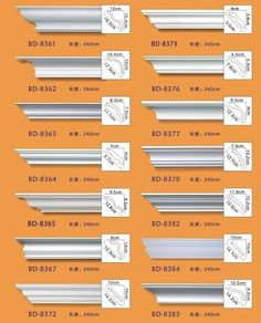 types of crown molding - Google Search                                                                                                                                                                                 More
