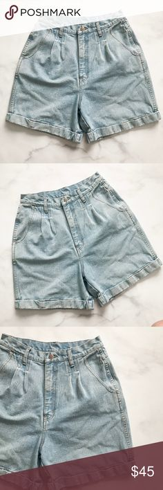 Bill Blass Vintage High-Rise Thick Denim Shorts Classic high rise Shorts by Bill Blass. Thick Vintage Denim. Great condition. No stains. No excessive signs of wear. Vintage Denim is made to last!! Size 12. Measurements upon request. Vintage Shorts Jean Shorts