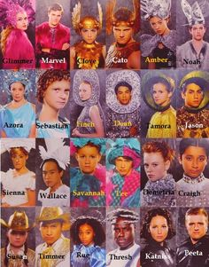 Hunger Games tributes in costume