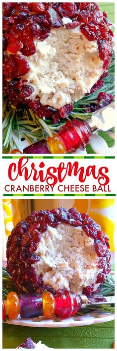 A festive cheese ball recipe made with goat cheese or cream cheese, white cheddar, pecans and cranberries. A festive cheese ball recipe made with goat cheese or cream cheese, white cheddar, pecans and cranberries. Christmas Cheese, Christmas Party Food, Christmas Cooking, White Christmas, Christmas Hanukkah, Christmas Foods, Scandinavian Christmas, Holiday Foods, Christmas Treats