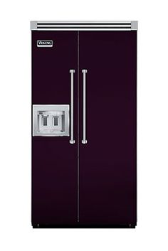 """42"""" Quiet Cool™ Side-by-Side with Dispenser - PLUM by Viking. I WANT a plum refrigerator."""