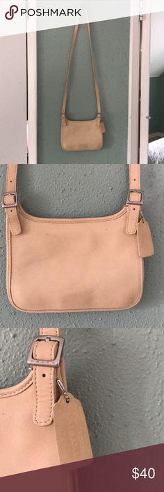 VINTAGE Coach purse Simple, classic beige/cream cross body purse. Magnetic clasp. Coach Bags