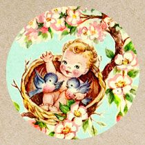 Free Vintage Baby Clip Art - Free Pretty Things For You