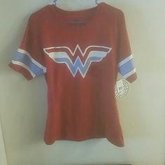 Wonderwoman red shirt... DC wonderwoman shirt never worn...brand new Tops Tees - Short Sleeve