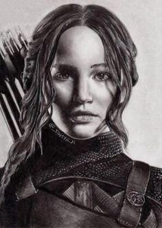 Katniss everdeen by stasya-jl on hunger games trilogie, katniss The Hunger Games, Hunger Games Humor, Hunger Games Series, Katniss Everdeen, Katniss And Peeta, Hunger Games Drawings, Divergent Fan Art, Jennifer Laurence, Jennifer Lawrence Hot