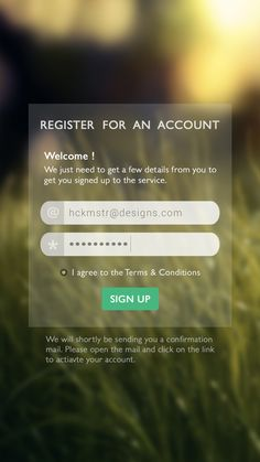 Sign UP Screen App UI Designs | Inspiration | Graphic Design Junction