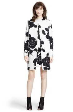 Dolce&Gabbana Rose Print Brocade Coat available at #Nordstrom