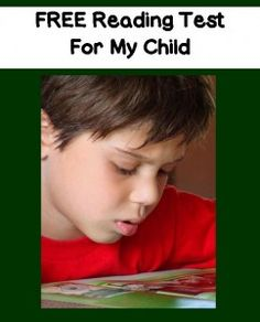 FREE Reading Test For Your Child - Find Out Your Child's Reading Level