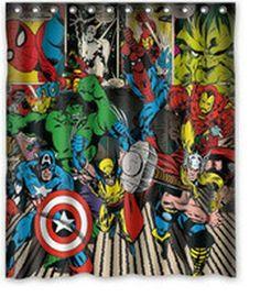 Whitexue captain america Hulk Spider Man Waterproof Custom Waterproof Shower Curtain 60x72 inch Surprised Gift Whitexue custom http://www.amazon.com/dp/B00OM1W6NM/ref=cm_sw_r_pi_dp_1VKVub1Q1HXPN