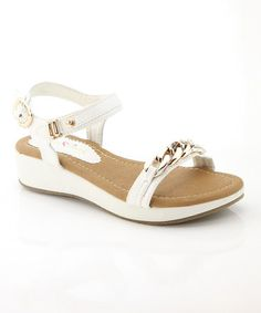 Love this White Chain Danni Sandal on #zulily
