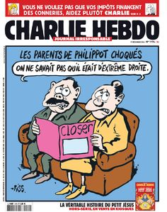 Couv de #CharlieHebdo à l'occasion du coming out par closer de François Philippot, du FN !