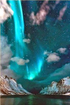 Bluish Northern Lights, Iceland