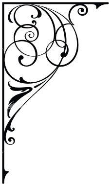 Corner Design Royalty Free Stock Vector Art Illustration - for quilt border. Stencil Patterns, Stencil Designs, Motif Photo, Jugendstil Design, 3d Prints, Scroll Design, Border Design, Free Vector Art, Silhouette Design